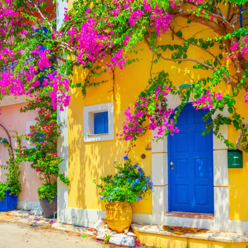 The village of Assos in kefalonia.